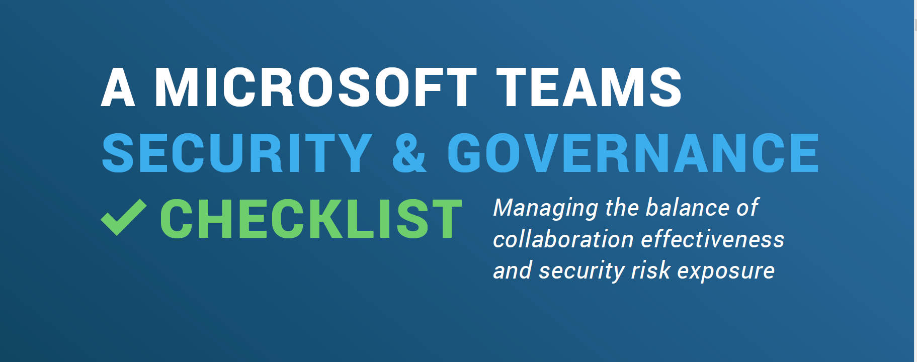 A Microsoft Teams Security and Governance Checklist